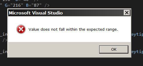 After selecteing an ArcGIS Pro SDK item to add, this error message is displayed.