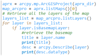 Web layer properties with arcpy.Describe