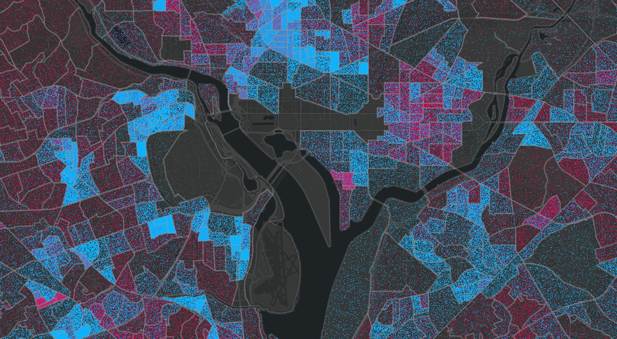 Dot density maps improve visualization and more accurately depict data