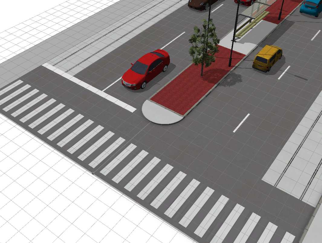 complete street median example