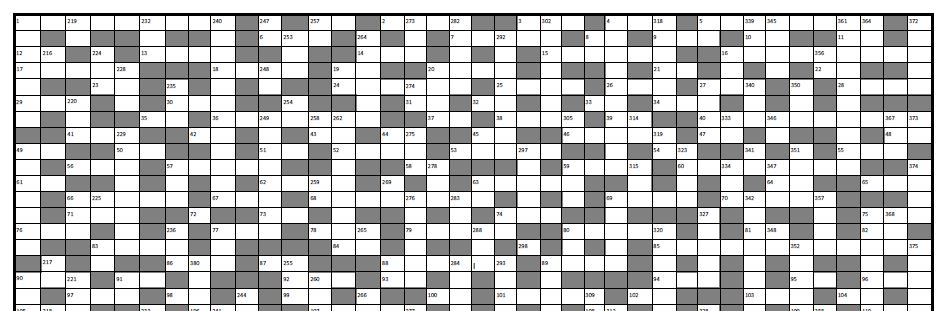 A GIS themed crossword puzzle.