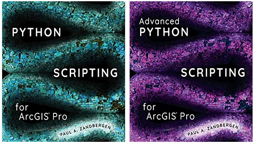 Python scripting for ArcGIS Pro book cover.