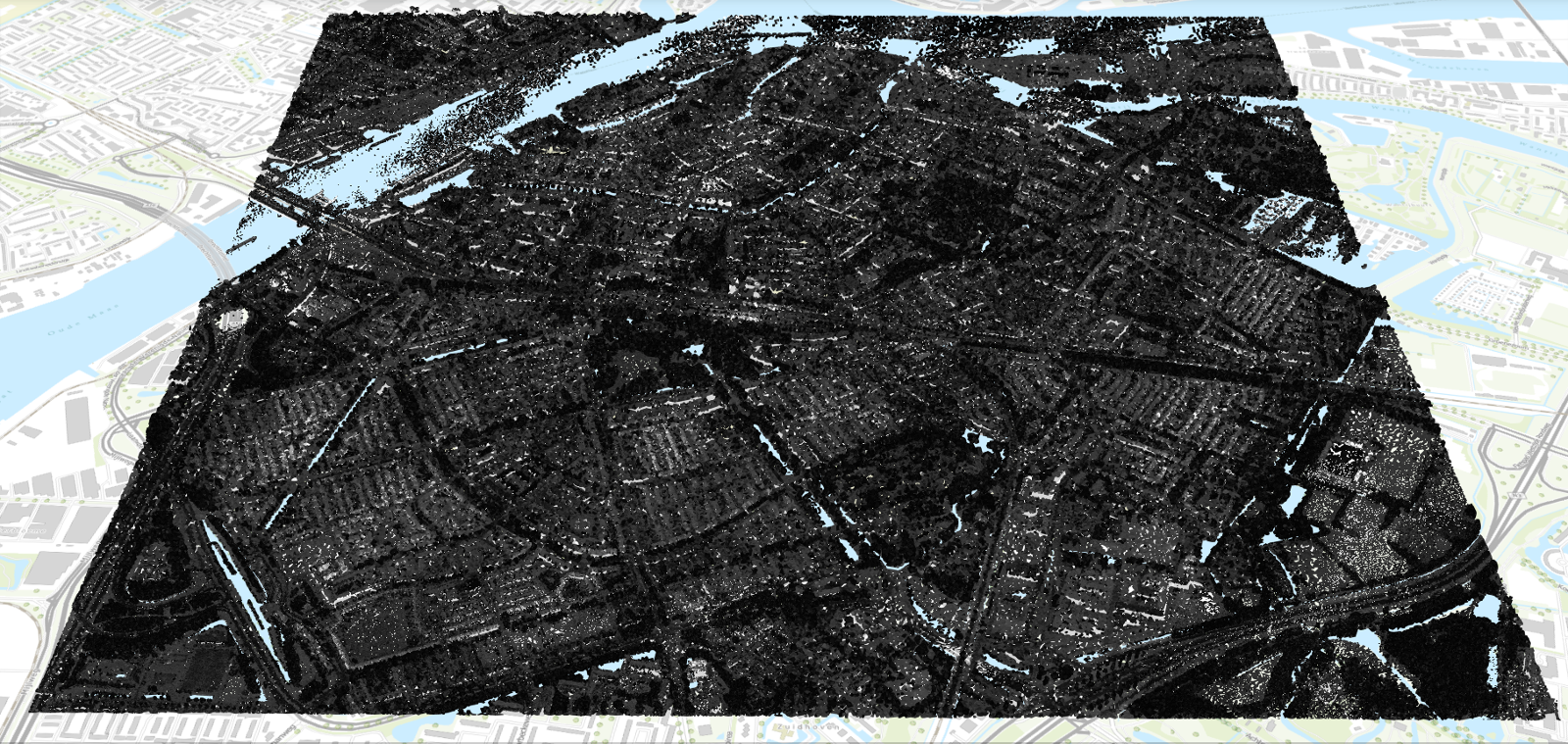 AHN point cloud of Dordrecht region