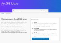 ArcGIS Ideas