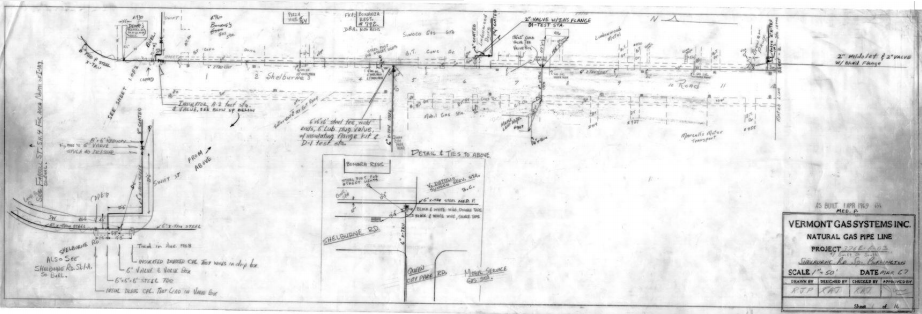 Vermont Gas example of hand drawing