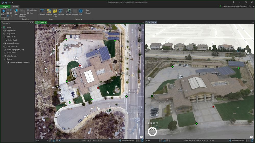 Now you can link 2D and 3D view scale and location