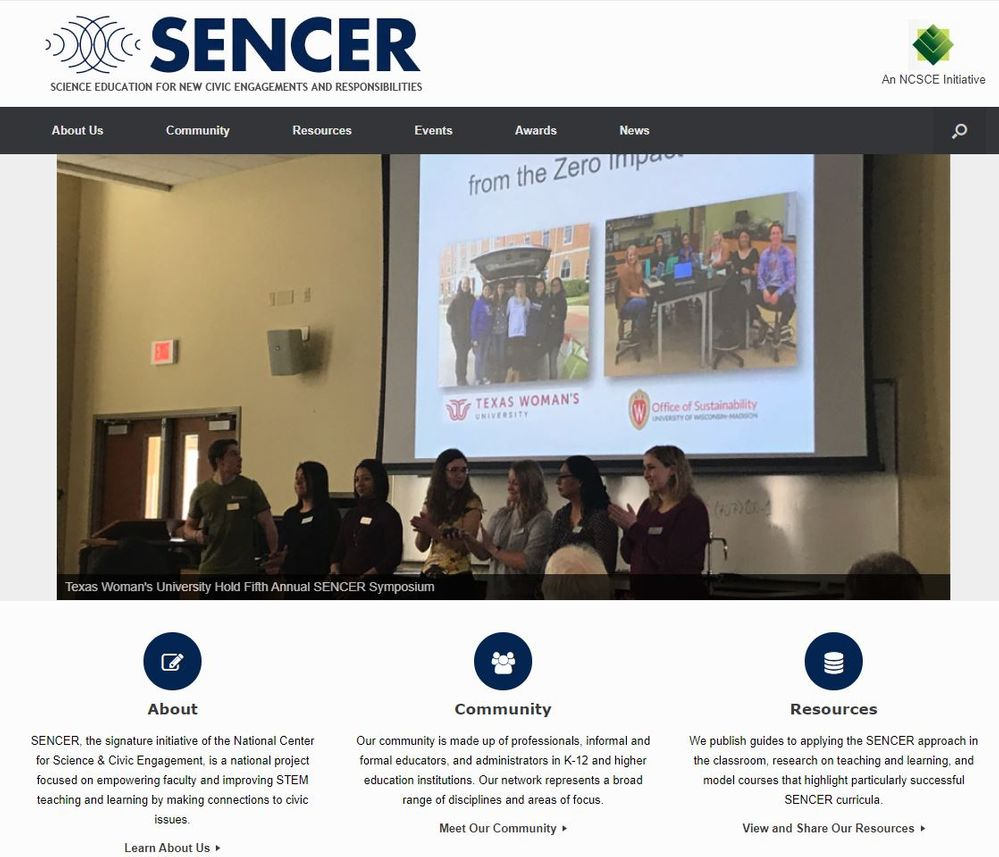 SENCER--Science Education for New Civic Engagements and Responsibilities